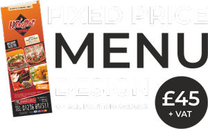 Takeaway Restaurants Menu Design & Printing | Fixed Price Menu Design Service