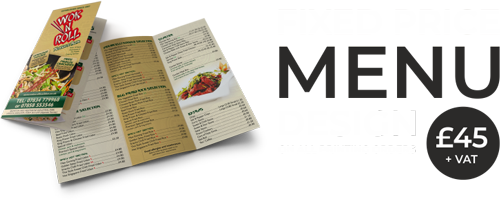 Restaurant Menu Design & Printing| Fixed Price Menu Design Service